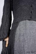 - Highbridge Duster Coat in Sparrow Grey Open Weave Knit - Limited Edition Trelawny Frock in Blackbird/Dove Rustic Weave, High Water Length