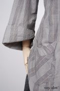 - Highlands Shirt in Sparrow Grey Plaid Poplin  - Traipse Trousers in Blackbird Double Layered Weave