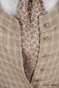 - Truitt Shirt in Dove Striped Voile  - Holkham Hall Necktie in Flaxseed Leafy Silk Linen  - Truitt Frock in Flaxseed Plaid Weave  - Mathilda Frock in Flaxseed Vine Silk Linen, Low Water Length