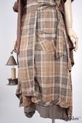 - Chittister Shirt Jacket in Blushed Double Layered Voile  - Coulson Frock in Flaxseed Featherlight Knit, High Water Length - Highlands Skirt in Eternal Spring Plaid Linen