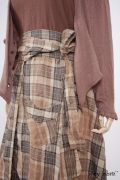 - Canterbury Cardigan in Blushed Cashmere Knit  - Highlands Skirt in Eternal Spring Plaid Linen  - Montmorency Frock in Blushed Double Layered Voile, Low Water Length