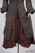 - Phinneus Coat Dress in Peony Meadow Cotton Voile  - Tilbrook Frock in Peony Washed Plaid Silk, High Water Length