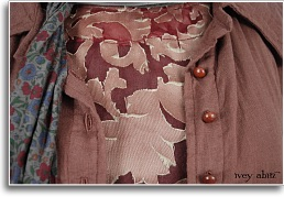 antique buttons on an ivey abitz jacket