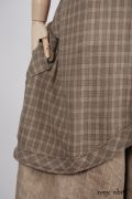- Truitt Shirt in Dove Striped Voile  - Truitt Frock in Flaxseed Plaid Weave  - Holkham Hall Necktie in Flaxseed Leafy Silk Linen  - Montague Trousers in Sandy Pinstriped Linen, High Water Length