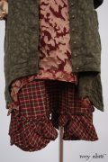 - Chittister Duster Coat in Morning Meadow Hemstitch Jacquard  - Chittister Frock in Peony Silk Organza  - Tilbrook Frock in Peony Washed Plaid Silk, High Water Length