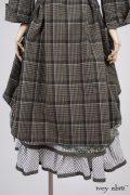 - Wildefield Duster Coat in Meadow Stretchy Plaid Cotton, High Water Length - Wildefield Frock in Bird and Vine Silk Organza  - Limited Edition Striped Blanchefleur Frock in Morning Meadow Striped Cotton, High Water Length  - Blanchefleur Sash in Blushed Plaid Voile