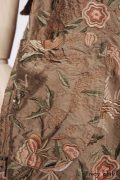 - Dennison Frock in Birdsong Embroidered Silk  - Edenshire Frock in Morning Meadow Yarn Dyed Cotton, Low Water Length  - Blanchefleur Sash in Birdsong Embroidered Silk
