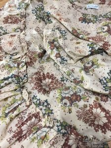 Anabel Frock in Blushed meadow floral voile by Ivey Abitz