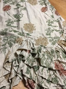 Ivey Abitz Anabel Frock in Chrysanthemum Embroidered Silk Taffeta