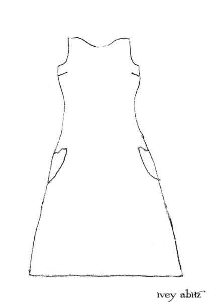 Ans Frock Drawing by Ivey Abitz