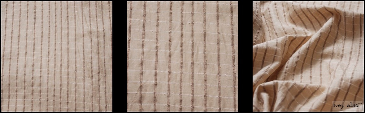 Antiqued Embroidered Plaid Silk