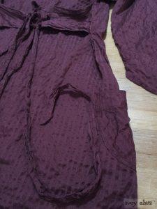 Ivey Abitz Arthur Hill Jacket in Garnet Textured Striped Silk