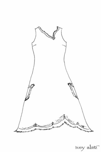 Au Sable Frock drawing by Ivey Abitz