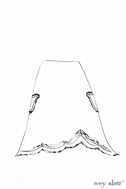 Au Sable Skirt drawing by Ivey Abitz
