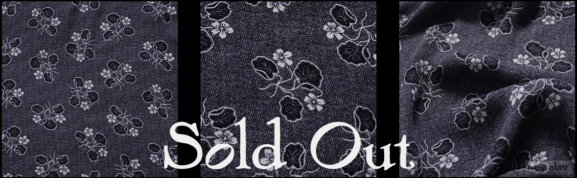 Black Edwardian Floral Silk - SOLD OUT