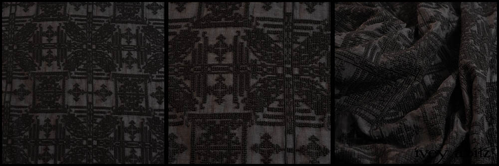 Black Embroidered Voile