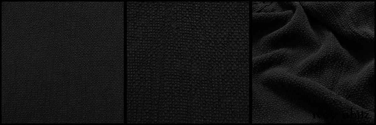 Black Puckered Check Weave - Collection 63 - 2020