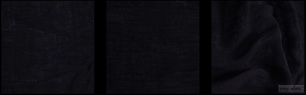 Black Washed Gauzy Linen