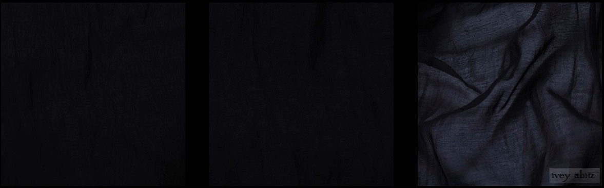 Black Wispy Silk Voile