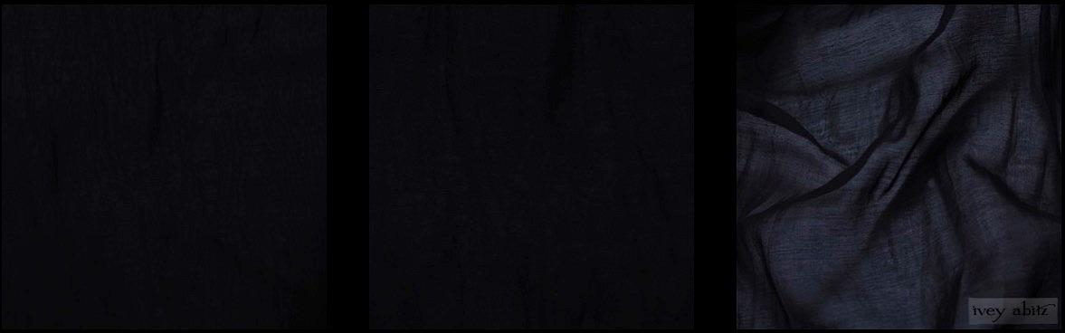 Black Wispy Silk Voile from Ivey Abitz