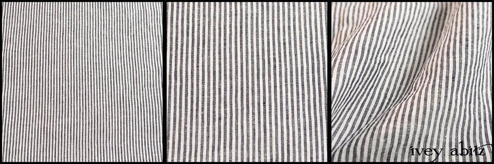 Black and White Petite Stripe Linen