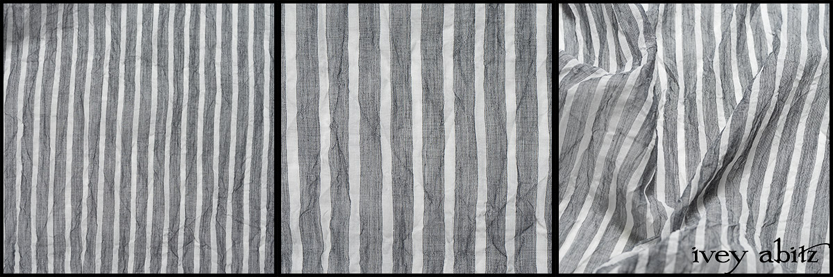 Black and White Washed Stripe Voile - Collection 63 - 2020
