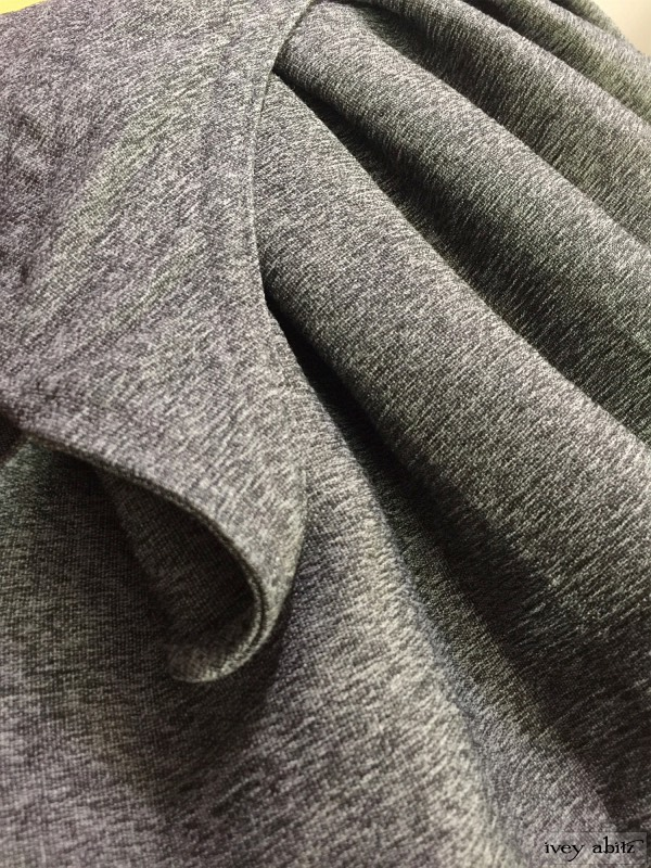 Blanchefleur skirt in sparrow grey double layered weave by Ivey Abitz
