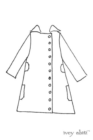 Boulevard Duster Coat drawing by Ivey Abitz
