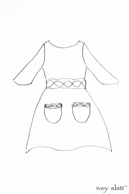 Bramley Dress drawing by Ivey Abitz