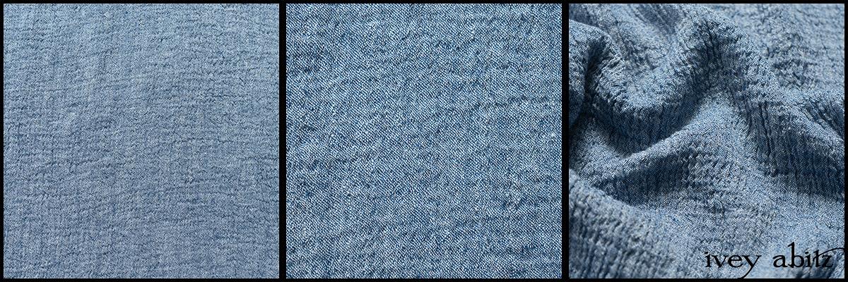 Buoy Blue Washed Crinkled Linen - Collection 63 - 2020
