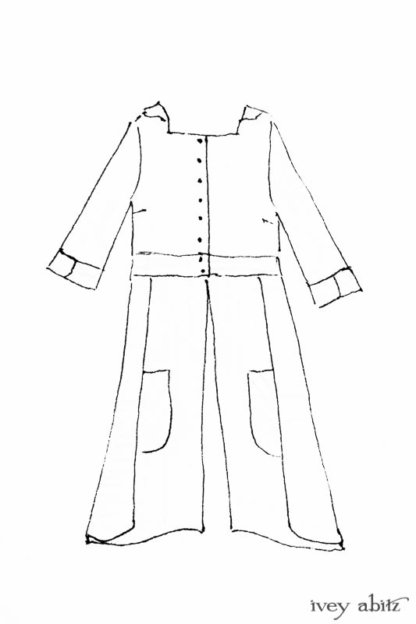 Campanella Duster Coat drawing by Ivey Abitz