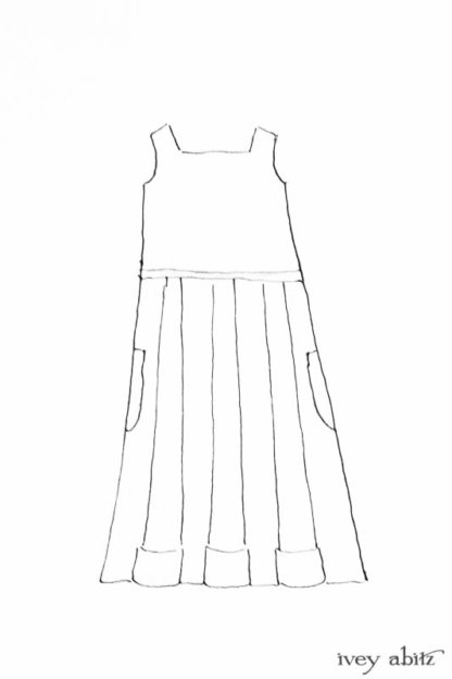 Campanella Frock drawing by Ivey Abitz
