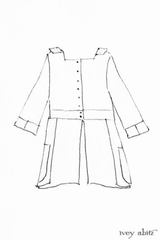 Campanella Shirt Jacket drawing by Ivey Abitz