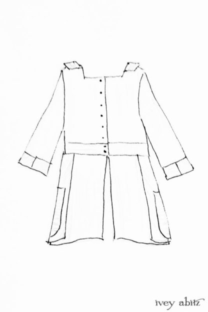 Campanella Shirt Jacket drawing by Ivey Abitz