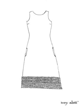 Cape Frock drawing by Ivey Abitz