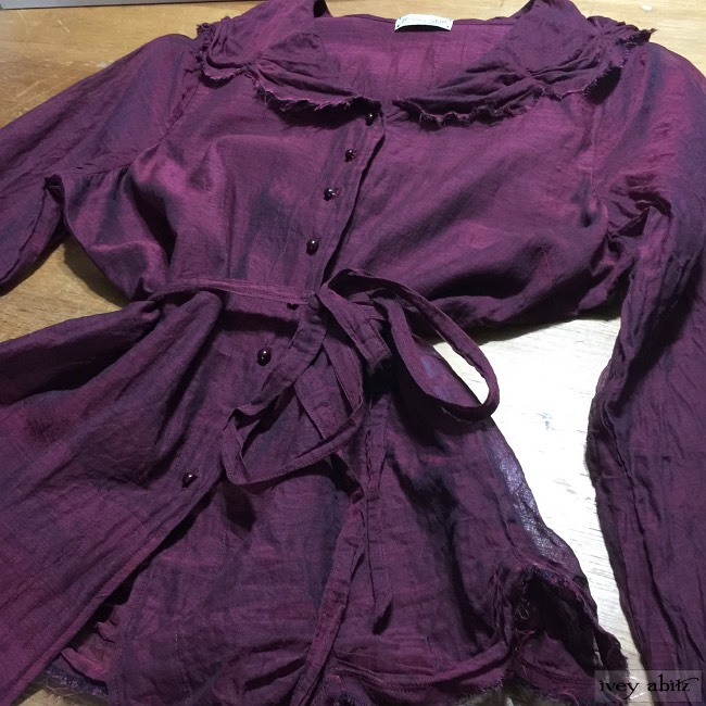 Ivey Abitz Celia Shirt in Limited Edition Garnet Cotton Voile