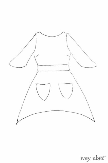 Delphine Dress drawing by Ivey Abitz