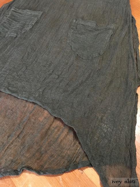 Ivey Abitz Dennison Frock in Emerald Gauze Linen