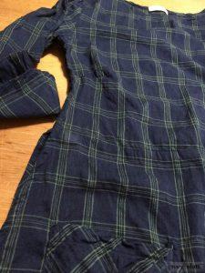 Dennison dress in meadow sea plaid cotton voile by Ivey Abitz