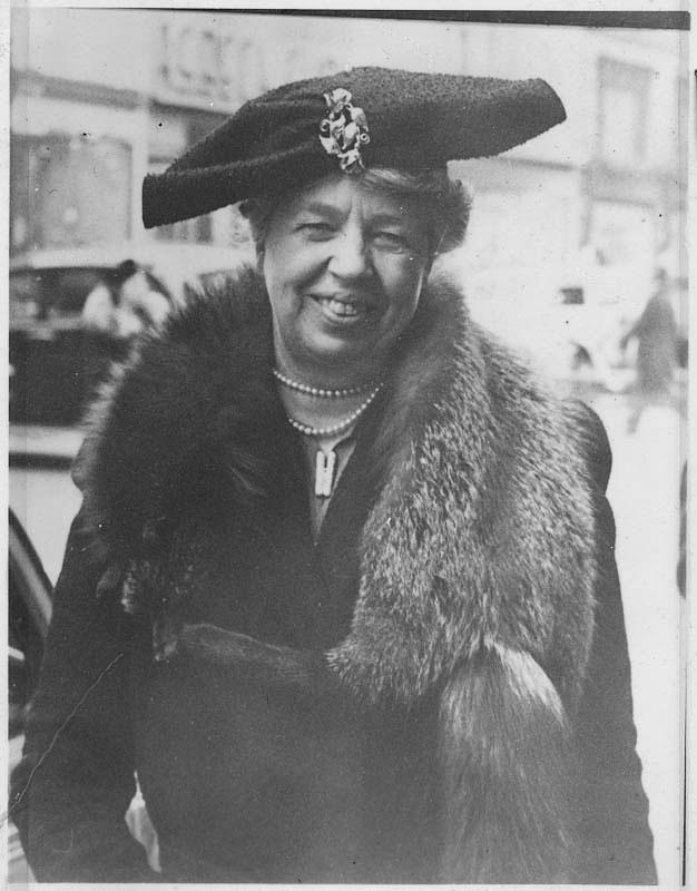 Eleanor Roosevelt in New York, New York. December, 1940. Photograph courtesy FDR Library.