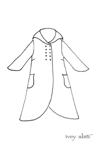 Eleanora Duster Coat drawing by Ivey Abitz