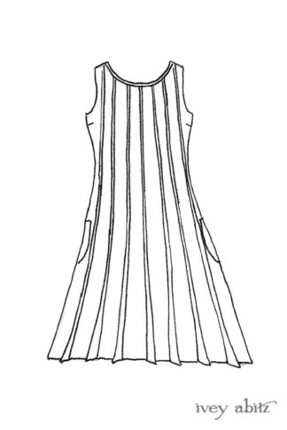 Eleanora Frock drawing by Ivey Abitz.