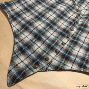 Ivey Abitz Elliot Vest in Tilled Field Plaid Wool with Antique Royal Crest Buttons