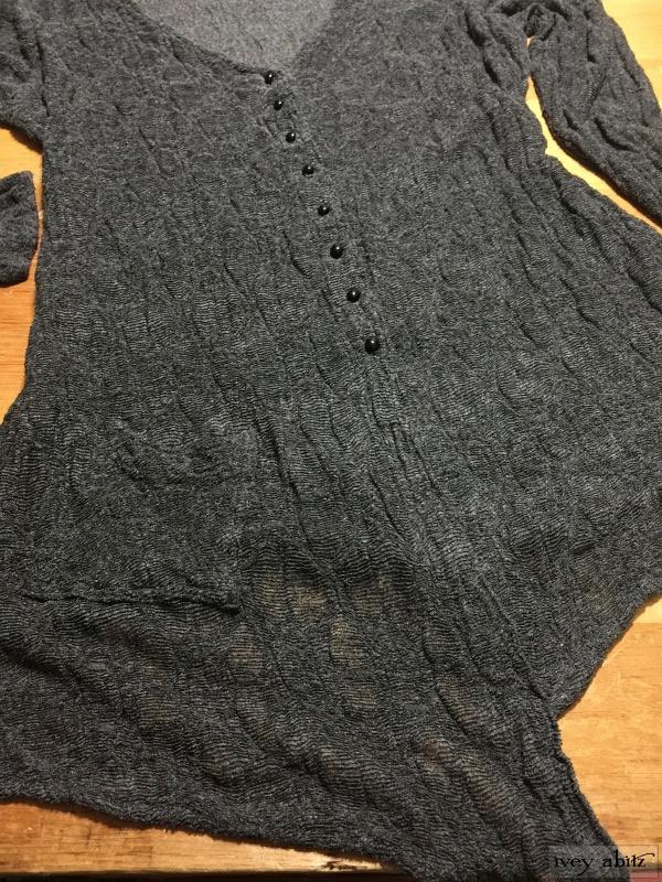 Fairholme Jacket in Sparrow Grey Open Weave Knit by Ivey Abitz.