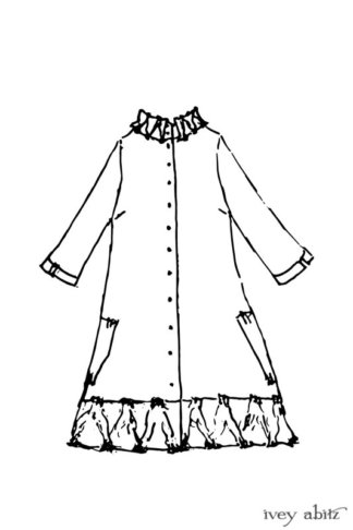Gabled Duster Coat drawing