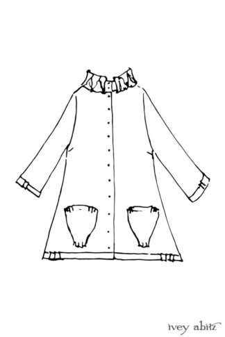 Gabled Shirt Jacket drawing by Ivey Abitz