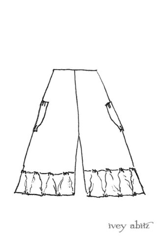 Gabled Trousers drawing by Ivey Abitz