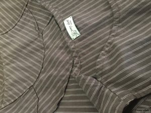 Grasmere Frock in Feather Brown Stretchy Striped Cotton by Ivey Abitz