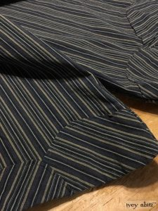 Ivey Abitz Grasmere Trousers in Rustic Stretchy Striped Cotton