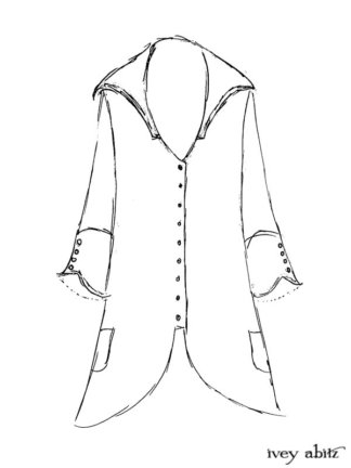 Henrietta Duster Coat Drawing by Ivey Abitz